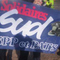 Le drapeau du syndicat sud sdis 44